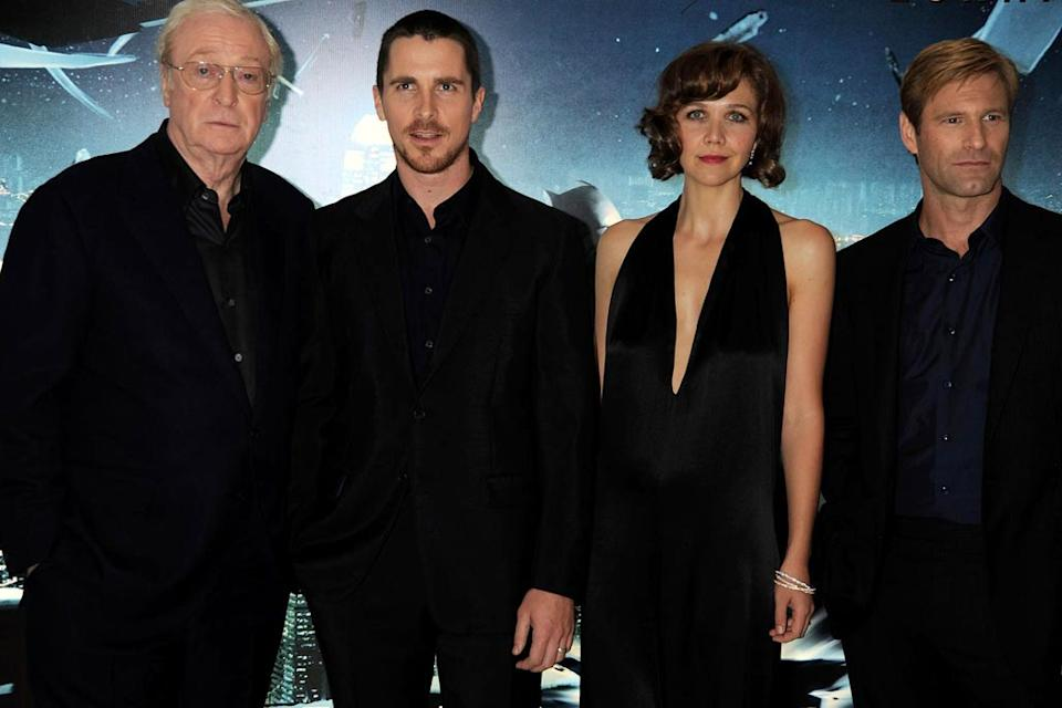 The Dark Knight UK Premiere 2008 Michael Caine Christian Bale Maggie Gyllenhaal Aaron Eckhart