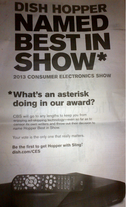 Dish Touts CES Would-Be Award, …