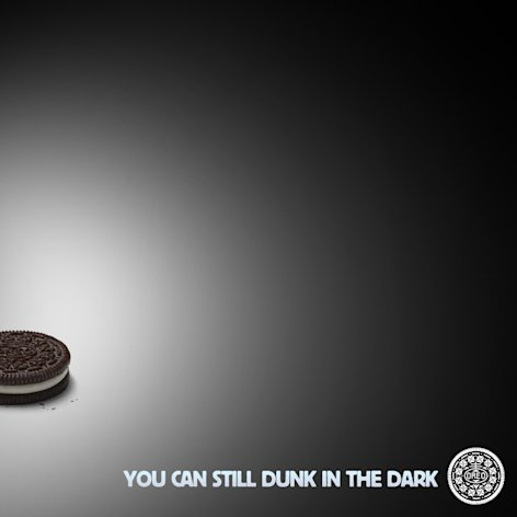 This image provided by Oreo's shows the image the company's marketers tweeted some 10 minutes after the power went out during the Super Bowl XLVII football game on Sunday, Feb. 3, 2013. As of Monday afternoon, the image had been re-tweeted more than 15,000 times. (AP Photo/Oreo's )