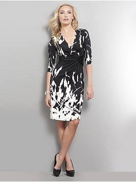 Rosette Faux Wrap Dress, $24.99