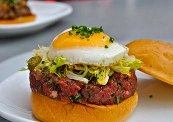 Steak Tartare Burger at Flip Burger Boutique, Atlanta
