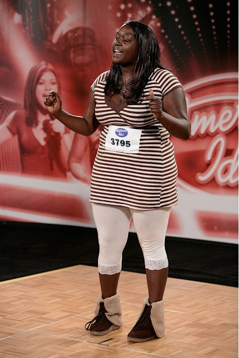 San Diego Audition: Monique Gibson, 24, San Diego, performs in front of the judges on the 7th season of American Idol.
