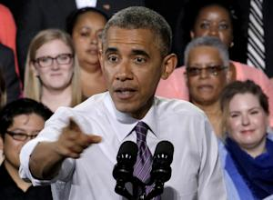 President Barack Obama speaks about the economy, Wednesday, …
