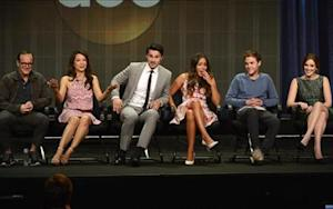"""Cast members participate in panel for """"Marvel's Agents of S.H.I.E.L.D."""" during Disney ABC Television Group sessions at Television Critics Association summer press tour in Beverly Hills"""