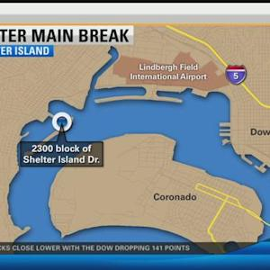 Water main break leaves Shelter Island high and dry