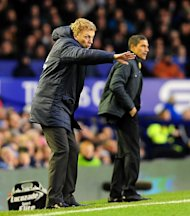 David Moyes, left, was frustrated by his side's failure to close out the game against Norwich