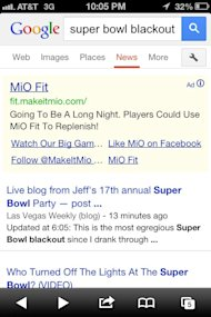 Real time Super Bowl Marketing: MiO Fit Makes Its Mark image mio ad super bowl blackout4
