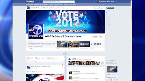 Election Night and Eyewitness News on social media