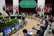 Foreign ministers from 10 countries of the Association of Southeast Asian Nations attend the 19th ASEAN Regional Forum (ARF) on July 12, 2012 in Phnom Penh. Days of heated diplomacy ended in failure Friday as splits over territorial disputes with China prevented Southeast Asian nations from issuing their customary joint statement at a summit
