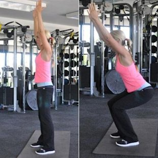 Squats with arms overhead