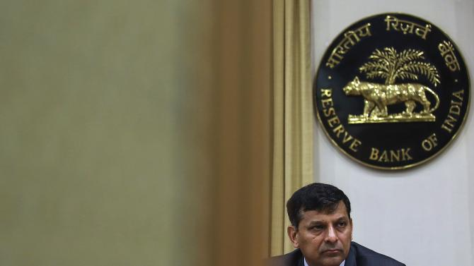 File photo of the Reserve Bank of India (RBI) Governor Raghuram Rajan listening to a question during a news conference, after the bi-monthly monetary policy review, in Mumbai
