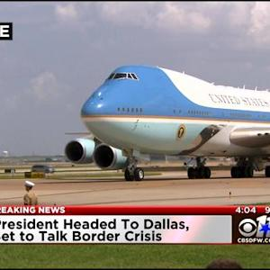 President Obama Arrives In Texas, Will Discuss Border Crisis