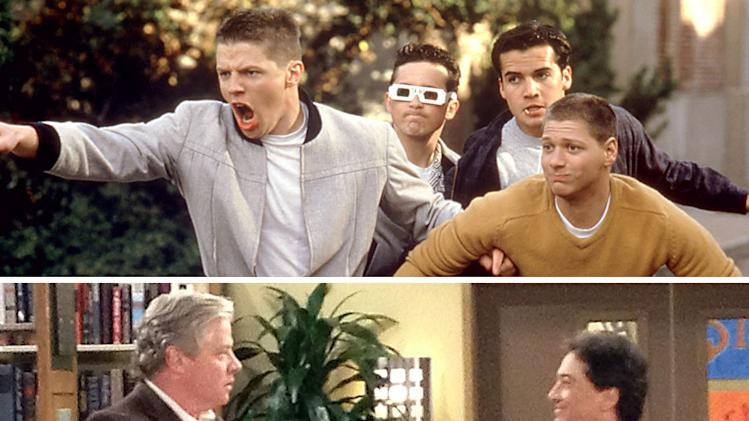 "Thomas F. Wilson in ""Back to the Future"" and with Scott Baio in Nickelodeon's ""See Dad Run."""