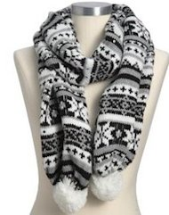 old navy sequin fair isle scarf