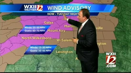 Hurricane Sandy brings wind, cold to the Triad
