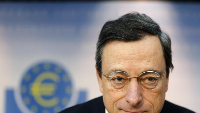 ECB president warns on economic growth