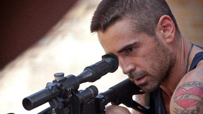 """This film image released by FilmDistrict shows Colin Farrell in a scene from """"Dead Man Down."""" (AP Photo/FilmDistrict, John Baer)"""