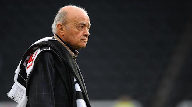 2011-12 Premier League Fulham chairman Mohamed Al Fayed