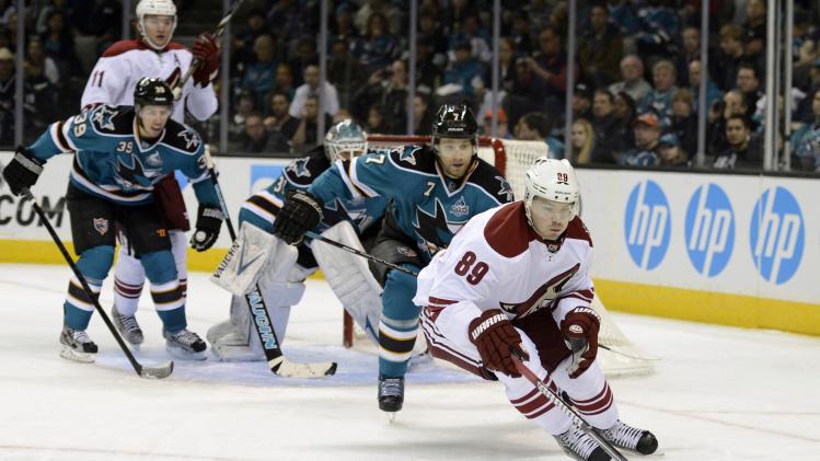 NHL: Phoenix Coyotes at San Jose Sharks