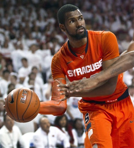 Southerland leads No. 6 Syracuse past Arkansas