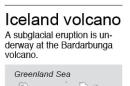 Subglacial volcanic eruption begins in Iceland