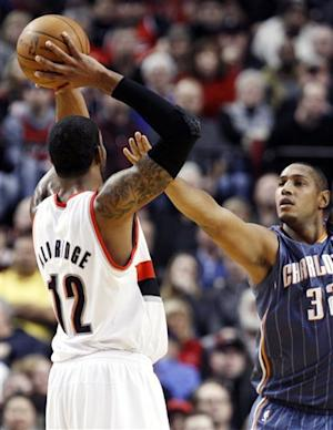 Blazers hand Bobcats 10th straight loss, 112-68