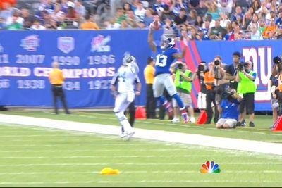 Odell Beckham Jr. almost made a ridiculous 1-handed catch over Darrelle Revis