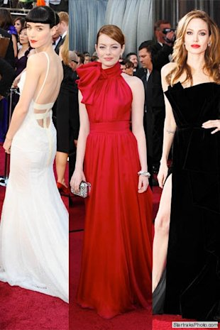 Rooney Mara, Emma Stone, Angelina Jolie Oscars