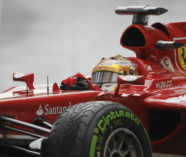 Ferrari Formula One driver Fernando Alonso of Spain drives during the qualifying session of the Monaco F1 Grand Prix
