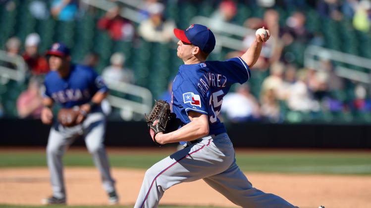 MLB: Spring Training-Texas Rangers at Colorado Rockies