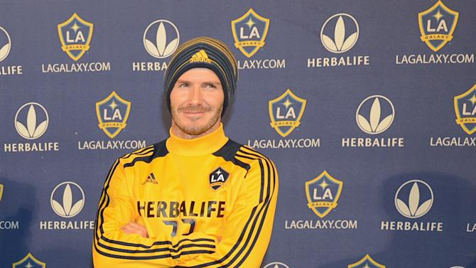 David Beckham Of The Los Angeles Galaxy Makes Announcement