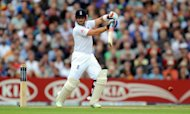 Matt Prior's gutsy innings pushed England to 385 on day two