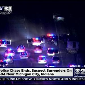 Man In Custody After Police Chase Ends In Indiana