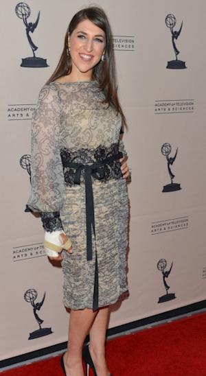 Mayim Bialik arrives to the Academy of Television Arts & Sciences' Performers Peer Group Cocktail Reception at the Sheraton Hotel in Universal City, Calif. on August 20, 2012  -- Getty Premium