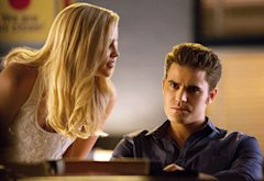 Claire Holt and Paul Wesley | Photo Credits: Bob Mahoney/The CW