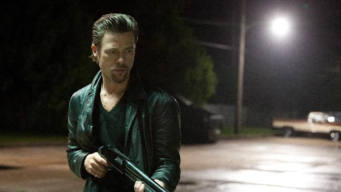 "This film image released by The Weinstein Company shows Brad Pitt in a scene from ""Killing Them Softly."" (AP Photo/The Weinstein Company, Melinda Sue Gordon)"