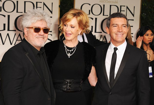 Pedro Almodovar, Melanie Griffith and Antonio Banderas