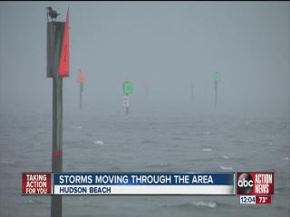 Severe weather storm chase near Hudson Beach