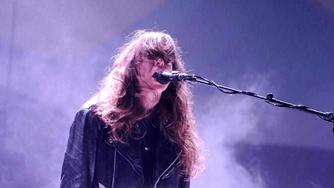 Victoria Legrand of Beach House performs during 2013 Governors Ball Music Festival at Randall's Island on June 7, 2013 in New York City