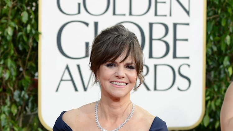 Actress Sally Field arrives at the 70th Annual Golden Globe Awards at the Beverly Hilton Hotel on Sunday Jan. 13, 2013, in Beverly Hills, Calif. (Photo by Jordan Strauss/Invision/AP)