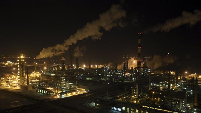 A general view of the Bashneft-Ufaneftekhim oil refinery is seen outside Ufa, Bashkortostan