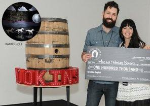 Herradura Awards $100,000 to Atlanta Artists Micah and Whitney Stansell for Tequila Barrel Art Creation during Miami Finale Event