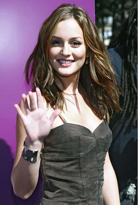 Leighton Meester attends the 15th annual Shop Til It Stops fashion show and tribute in Union Square on October 2, 2008 in New York City. 