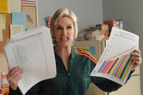 Sue Sylvester (Jane Lynch) in Glee