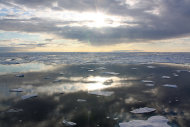 Sea ice in the Chukchi Sea, on July 20, 2011. A new observatory in Canada's Nunavut province will help measure sea ice from underneath, as well as measure water temperature and other variables.