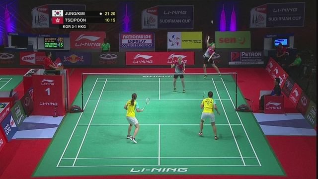 South Korea beat Hong Kong 4-1 in Sudirman Cup