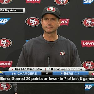 San Francisco 49ers coach Jim Harbaugh: Going to finish coaching till the end