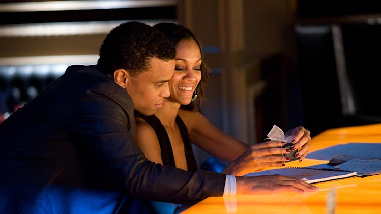 Takers Screen Gems Production Photos 2010 Zoe Saldana Michael Ealy