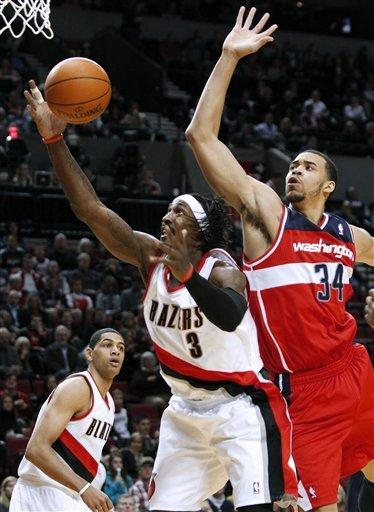 Young scores 35, Wizards win in Portland, 124-109