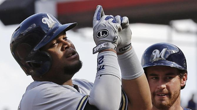 Francisco homers, Brewers beat Reds 6-0